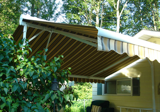The Freestanding Motorized Retractable Eclipse Butterfly Awning