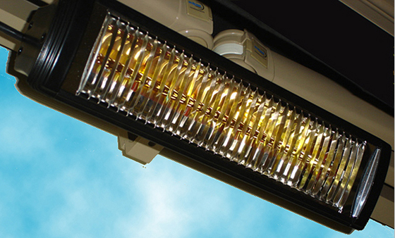 infrared heater for your Eclipse Shading Systems