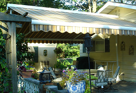 The Free Standing Butterfly Retractable Awning