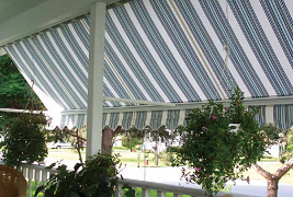beautiful awnings in beautiful fabrics from Eclipse Shading Systems