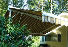 eclipse retractable butterfly awning for instant shade