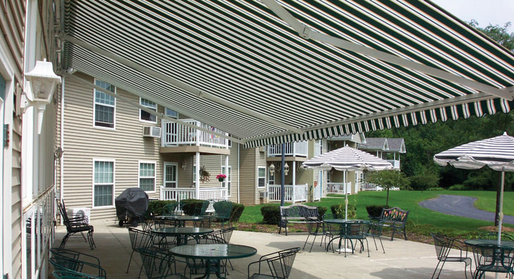 the total eclipse commercial retractable awning large retractable awnings