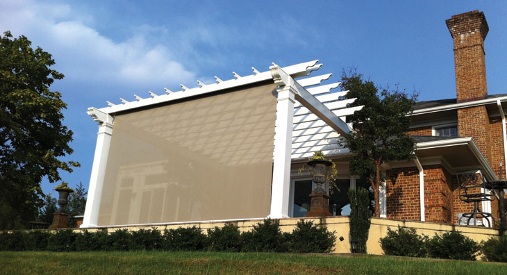 Eclipse Vertical Drop Retractable Solar Screen | Roll Up Window Shades